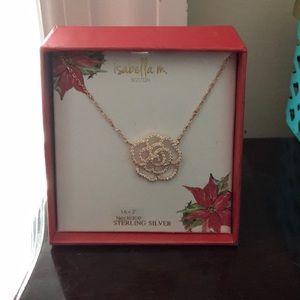 Isabella M. Boston necklace flower rose gold